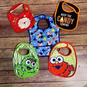 3/$25 Unisex Infant Bib 5 Piece Bundle